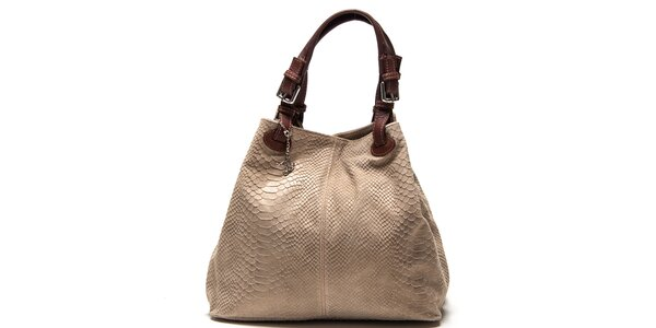 Dámská kožená kabelka se šupinatým vzorem Luisa Vannini