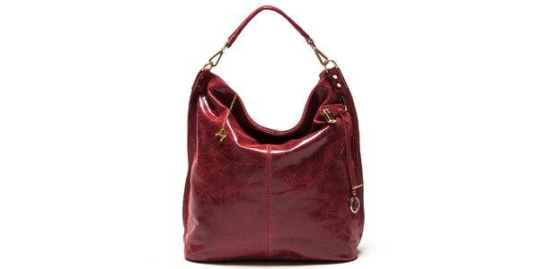 Dámská červená kabelka s jedním uchem Luisa Vannini