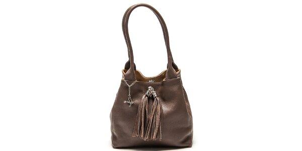 Dámská kožená taška s třásněmi Luisa Vannini