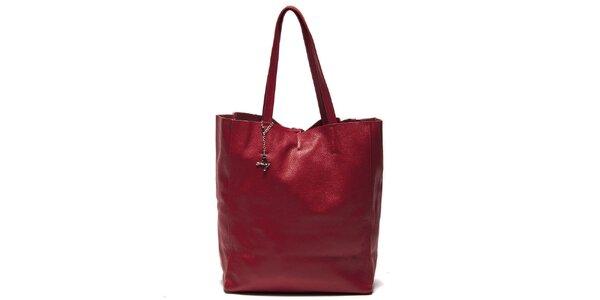 Dámská červená kabelka s vnitřní kapsičkou Luisa Vannini