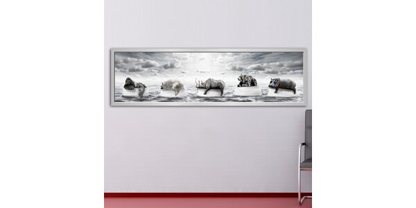 Panoramatický obraz Zvířata na moři 158x46 cm
