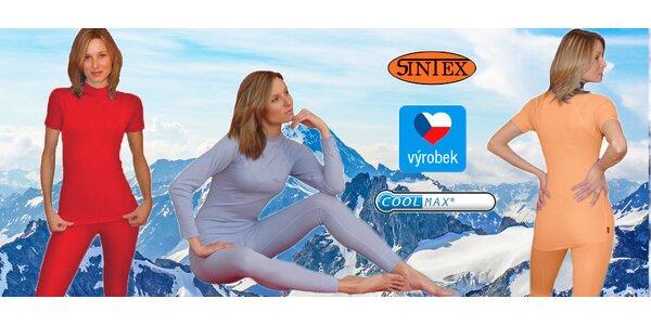 Dámské funkční termoprádlo Coolmax® české výroby