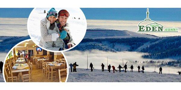 Aktivní lyžařská dovolená v Jeseníkách pro dva