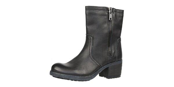 Dámské černé boty se zipem Bullboxer