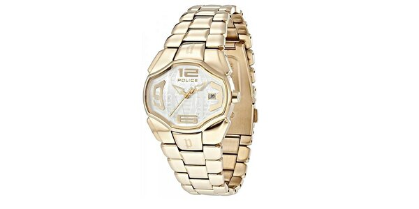 Unisex hodinky Police Fashion Angel zlaté barvy