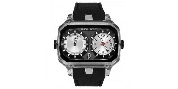 Pánské hodinky Police HYDRA bílé ciferníky, černý řemínek