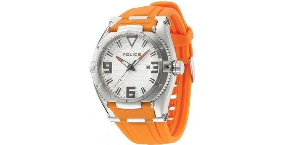 Pánské hodinky Police RAPTOR oranžový řemínek