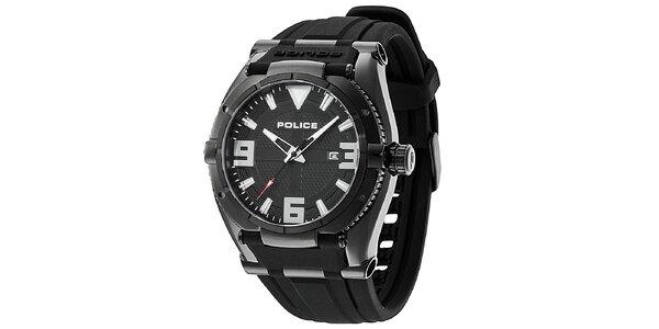 Pánské hodinky Police RAPTOR černý řemínek, černý ciferník