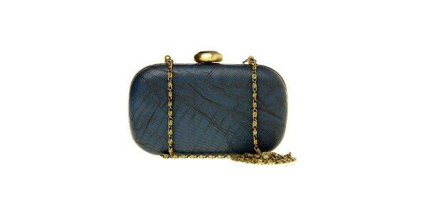 Dámské tmavě modré psaníčko Luna Llena se zlatým řetízkem