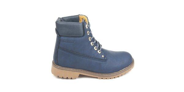 Dámské modré kotníkové boty Destroy