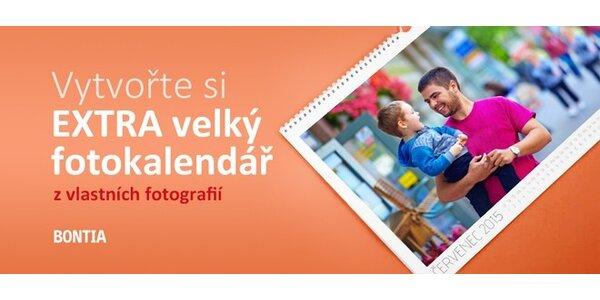 EXTRA velký kalendář 2015 z vlastních fotografií, domů i do práce