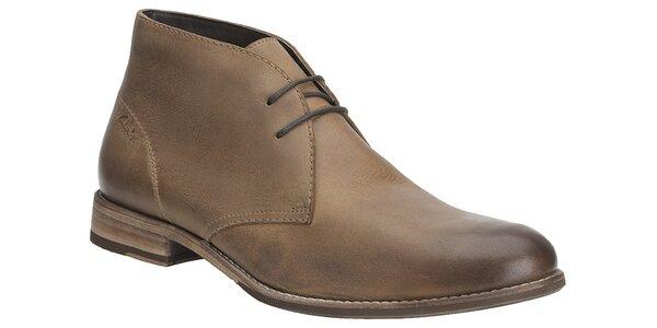 Pánské světle hnědé kotníčkové boty Clarks