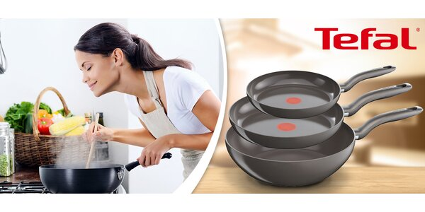 Sada 3 pánví Tefal Ceramic Control Induction