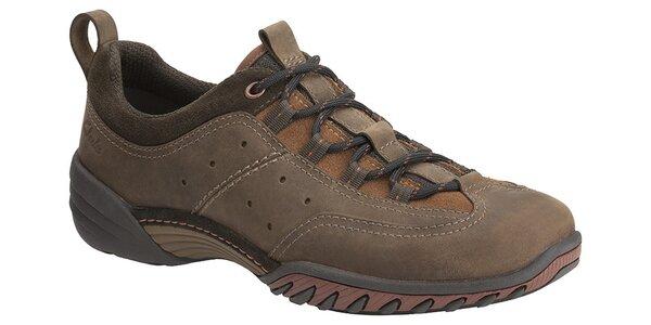 Pánské tmavě hnědé sportovní boty Clarks