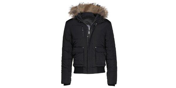 Pánská krátká černá bunda Paul Stragas