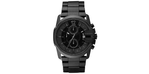 Pánské černé hodinky Diesel