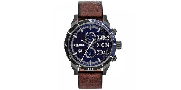 Pánské ocelové hodinky s modrým ciferníkem Diesel
