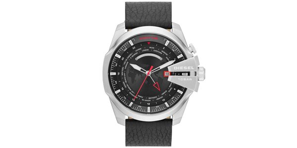 Pánské masivní hodinky s černým řemínkem Diesel