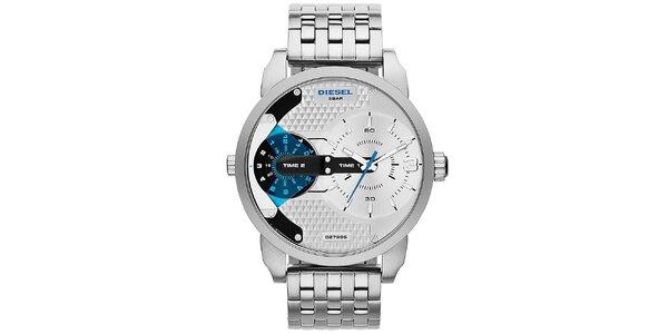 Pánské ocelové hodinky ve stříbrné barvě Diesel