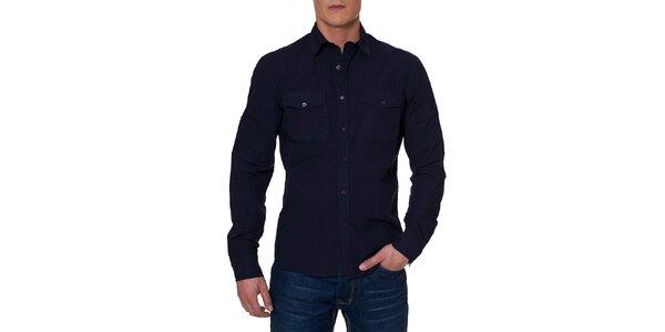 Pánská tmavě modrá košile s kapsami Paul Stragas