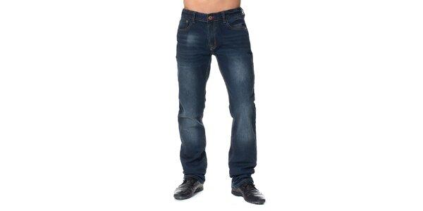 Pánské modré džíny s šisováním Paul Stragas