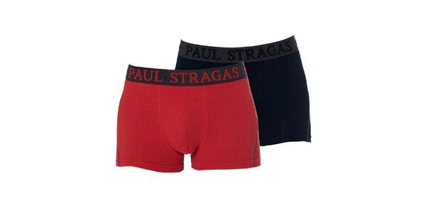 Set černých a červených pánských boxerek Paul Stragas