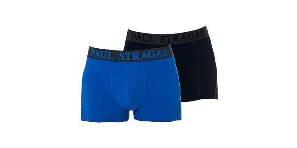 Set černých a modrých pánských boxerek Paul Stragas