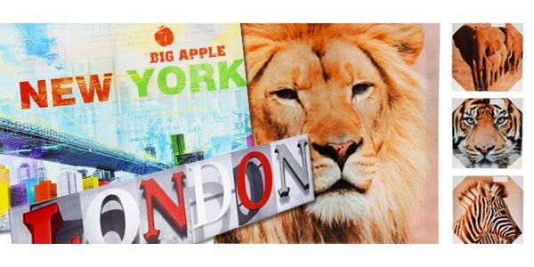 Cool obrazy a hodiny s motivy New Yorku, Paříže aj.