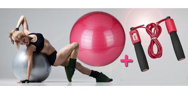 fitness míč + švihadlo s počítadlem