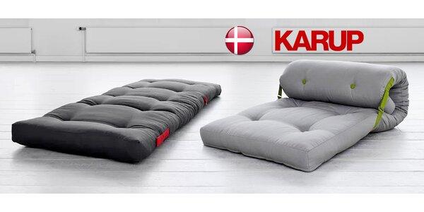 Designový variabilní futon Karup v hravých barvách