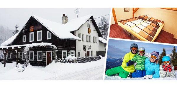 Ubytování s polopenzí na šest dní pro celou rodinu v Jizerských horách