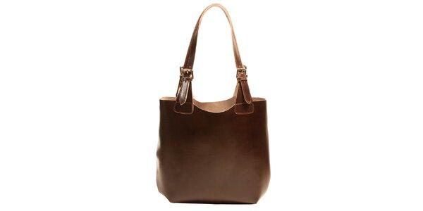Dámská kožená kabelka v tmavě hnědé barvě Joana and Paola