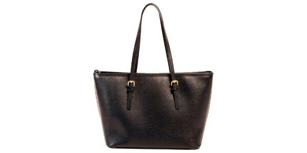Dámská černá kabelka z kůže Joana and Paola