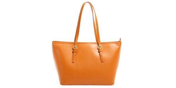 Dámská oranžová kabelka z kůže Joana and Paola