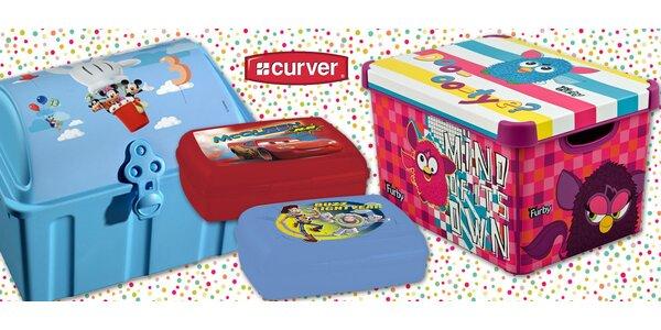 Dětské svačinové i úložné boxy Curver