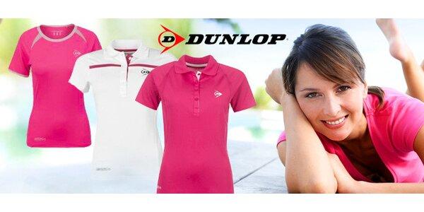 Dobře střižená značková dámská trička Dunlop