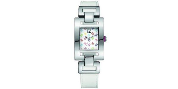 Dámské ocelové hodinky s barevným hranatým ciferníkem Tommy Hilfiger