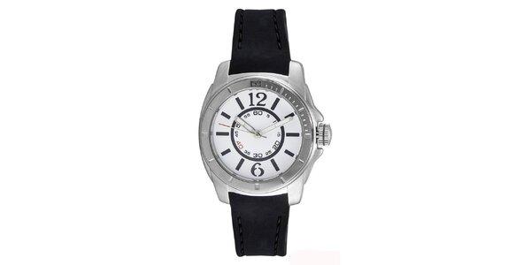 Dámské ocelové hodinky s černým silikonovým páskem Tommy Hilfiger