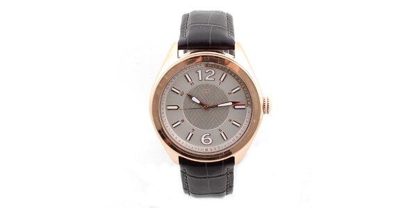Dámské hodinky se vzorovaným koženým řemínkem Tommy Hilfiger