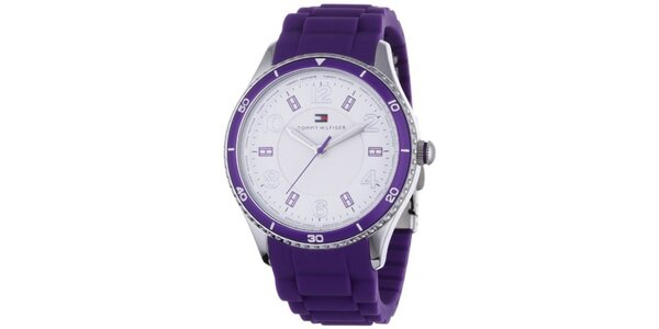 Dámské fialové náramkové hodinky Tommy Hilfiger afd41f9e496