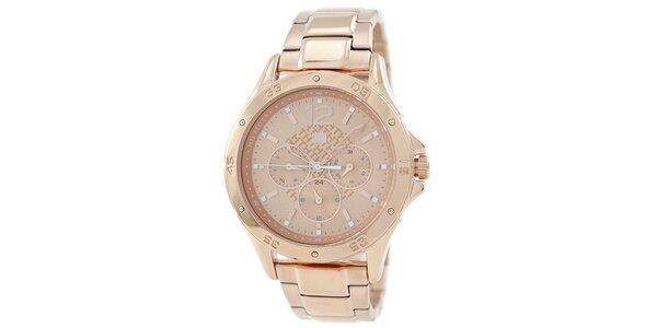 Dámské jemně růžové ocelové hodinky Tommy Hilfiger