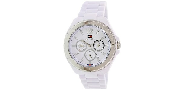 Dámské bílé analogové hodinky Tommy Hilfiger