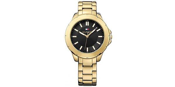 Dámské pozlacené ocelové hodinky Tommy Hilfiger