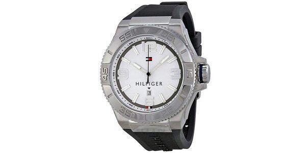 Pánské hodinky s černým páskem Tommy Hilfiger
