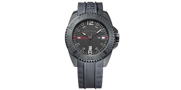Pánské černé sportovní hodinky Tommy Hilfiger