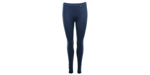 Dámské modré legíny se zipy SMF Jeans
