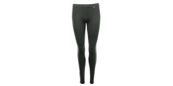 Dámské tmavě šedé legíny se zipy SMF Jeans