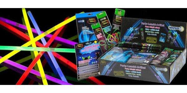 Mega balík svítících party doplňků