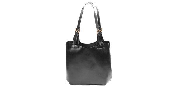 Dámská kožená kabelka v černé barvě Joana and Paola