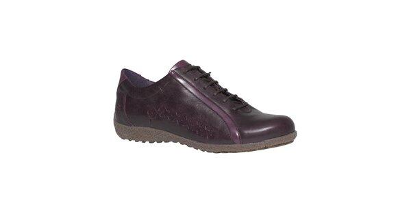 Dámské tmavě fialové boty TBS